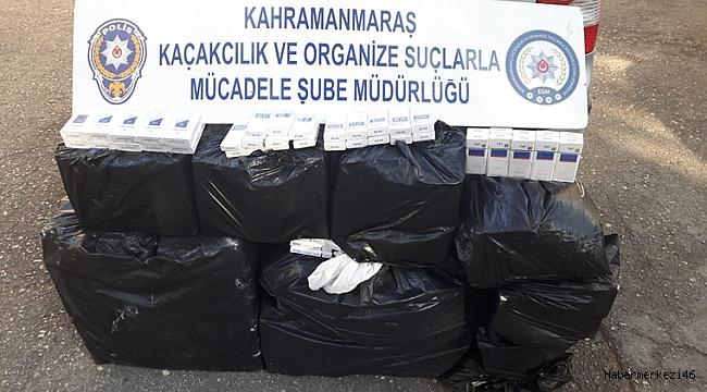 BİNLERCE PAKET KAÇAK SİGARA YAKALANDI