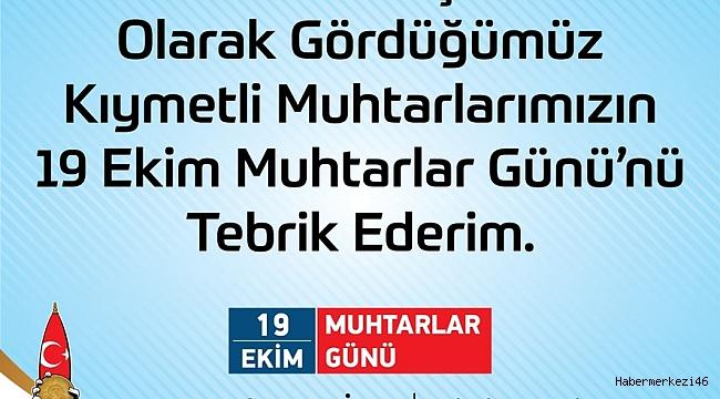 """""""MESAİ ARKADAŞLARIMIZ MUHTARLARIMIZIN GÜNÜNÜ TEBRİK EDERİM"""""""