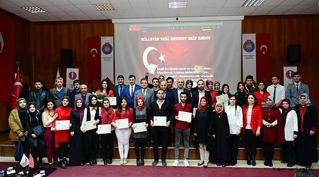 KSÜ, İstiklal Şairi Mehmet Akif Ersoy'u Şiirlerle Andı