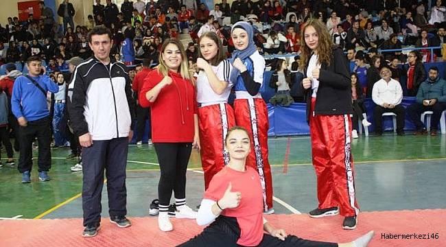 Okul Sporları Kick Boks Türkiye Şampiyonası Afşin'de Yapıldı