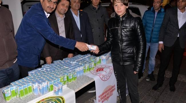 İl Müdürlüğü Süt Dağıtımı Yaptı