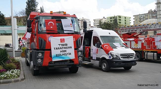 TBB Büyükşehir'e 6 Araç Gönderdi