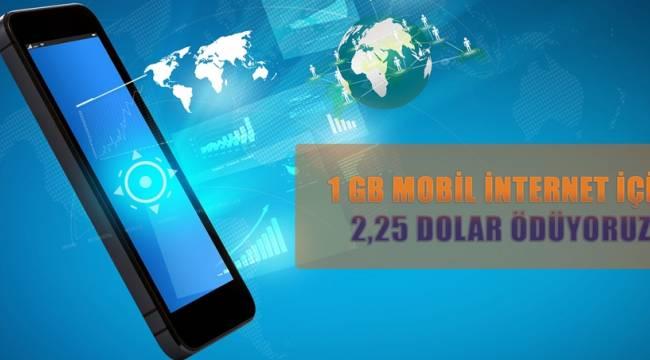 1 GB Mobil İnternet İçin 2,25 Dolar Ödüyoruz