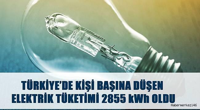 Kişi Başına Düşen Elektrik Tüketimi 2855 KWH Oldu