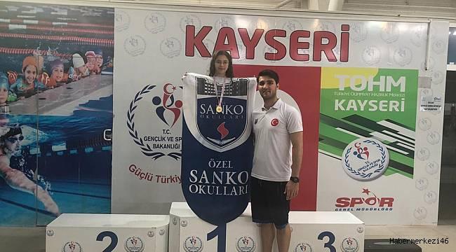 SANKO Okulları Yüzücüsü Türkiye Şampiyonu Oldu