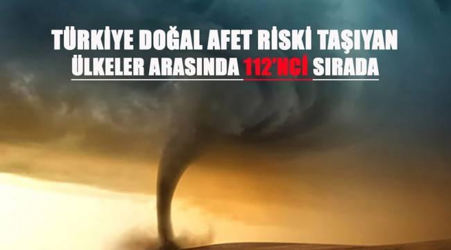 Doğal Afet Riski Taşıyan Ülkeler Arasında 112'nci Sıradayız