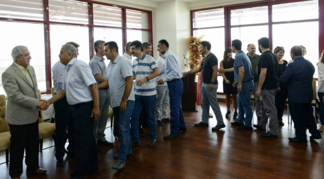 KSÜ Yönetim ve Personeli, Bayramlaşma Töreninde Bir Araya Geldi