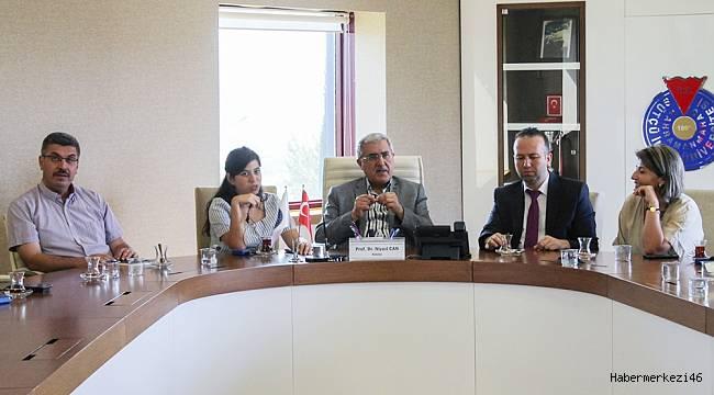Rektör Can, 34 Ülkenin Kültür Elçilerini Ağırladı