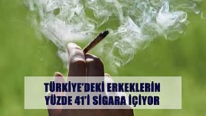 TürKiye'de ki Erkeklerin Yüzde 41'i Sigara İçiyor