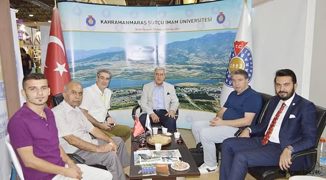 İzmir Enternasyonal Fuarında Sütçü İmam Üniversitesi'nin Standı Büyük İlgi Gördü