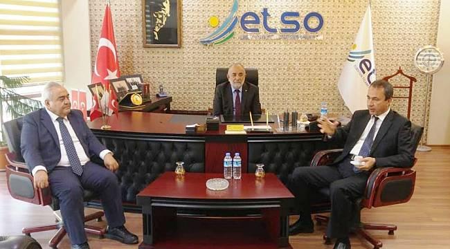 Rektör Özgül'den ETSO'ya Ziyaret