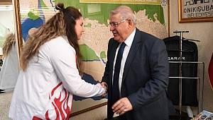 Avrupa Şampiyonu'ndan Başkan Mahçiçek'e Ziyaret