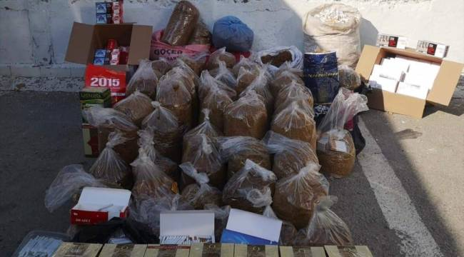 Kahramanmaraş'ta 250 kilogram kaçak tütün ele geçirildi