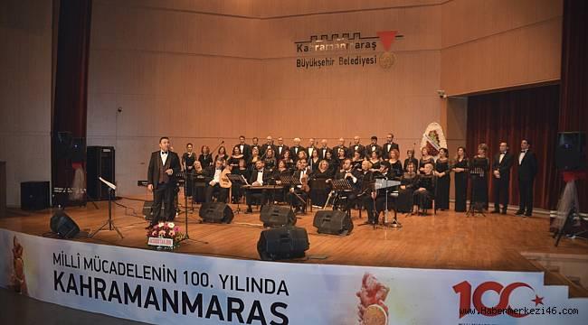 46 kişilik koro konser verdi..