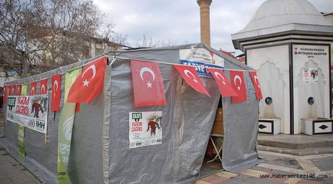 Afşin'de İdlib için yardım kampanyası başlatıldı