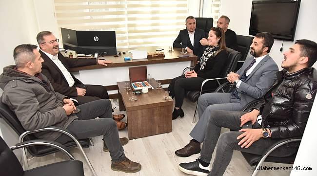 Başkan Aydın'dan Cemiyete ziyaret