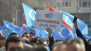 Çin'in Doğu Türkistan politikaları Kahramanmaraş'ta protesto edildi