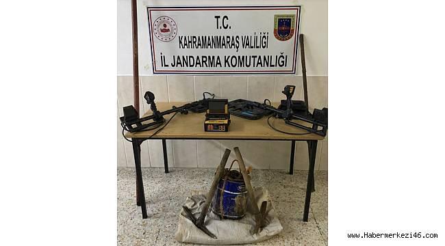 Kahramanmaraş'ta kaçak kazı yapan 5 şüpheli yakalandı