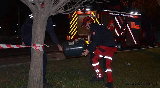 Kahramanmaraş'ta refüje çarpan otomobilin sürücüsü yaralandı
