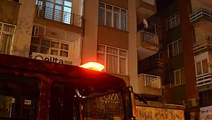 Mangal yaparken balkonu yaktılar