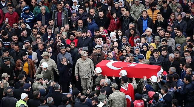 İdlib şehidi Uzman Çavuş Deprem Osmaniye'de son yolculuğuna uğurlandı