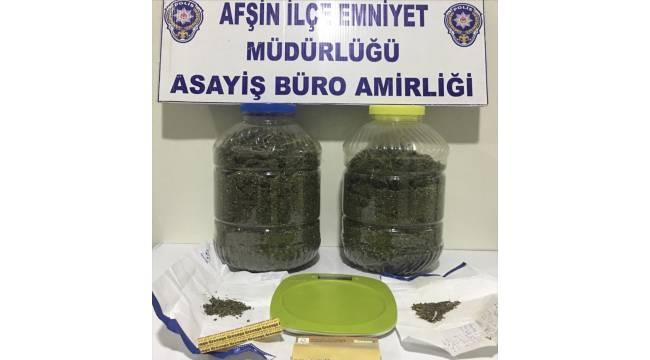 Kahramanmaraş'ta 1 kilo 812 gram esrar ele geçirildi