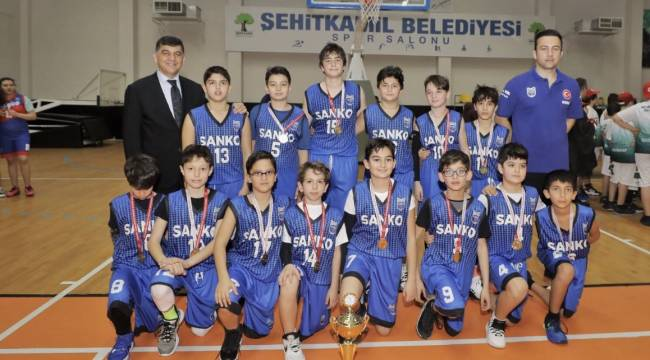 SANKO Okulları Basketbolda İl Şampiyonu