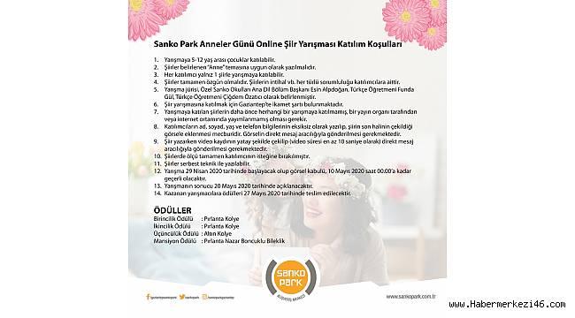 SANKO Park'tan Anneler Günü'ne Özel Şiir Yarışması