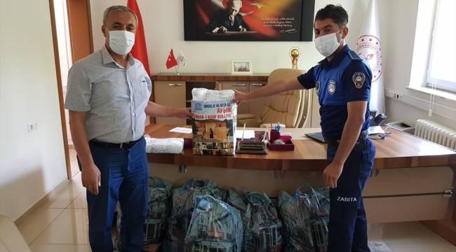 Afşin Belediyesi LGS'ye girecek öğrenciler için maske üretti