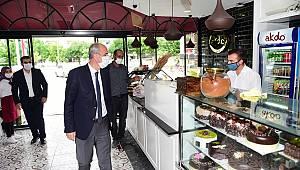 Başkan Okay'dan Esnafa Teşekkür Ziyareti
