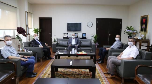 KSÜ Yönetiminden KMTSO Başkanı Balcıoğlu'na Ziyaret