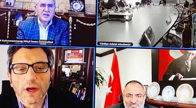 Rektör Can Türkiye Adalet Akademisi Danışma Kurulu Toplantısına Katıldı