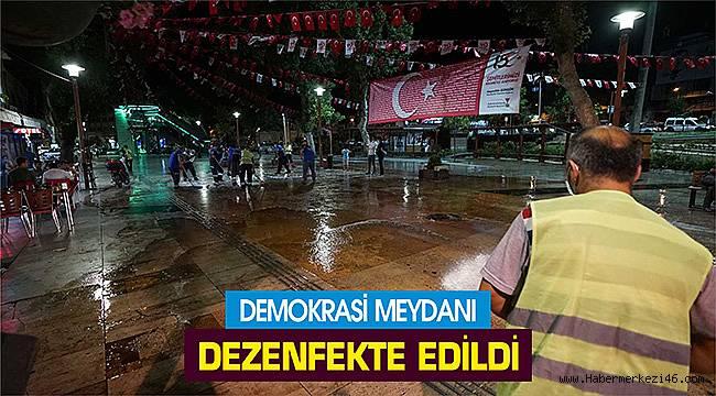Demokrasi Meydanı dezenfekte edildi