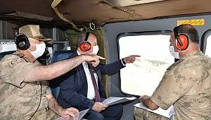 Kahramanmaraş Valisi Coşkun, Kale Tepe Jandarma Üs Bölgesi'nde inceleme yaptı