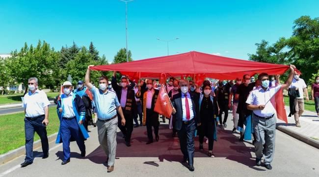 KSÜ, 15 Temmuz Şehitlerini Yâd Etmek İçin Yürüdü
