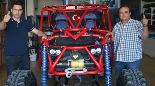 Oto elektronik ustası, yarışlara katılabilmek için kendi off-road aracını yaptı