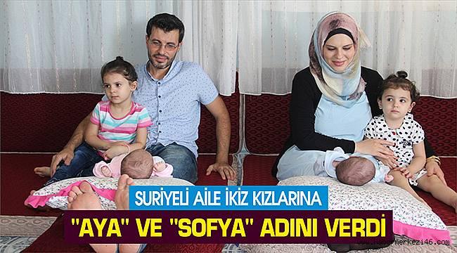 Suriyeli aile ikiz kızlarına