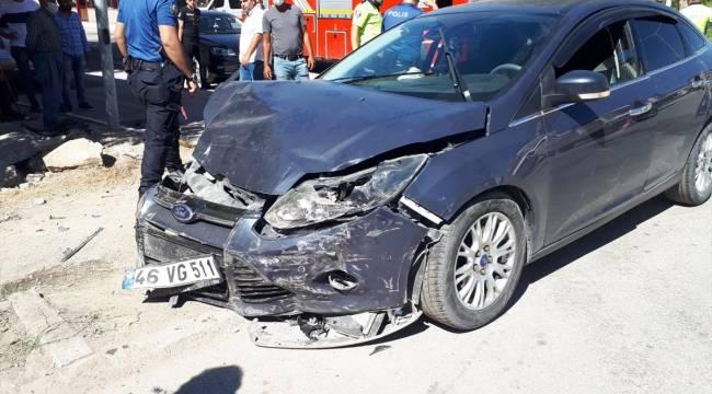İki Otomobil Çarpıştı: 1 ölü 4 yaralı var