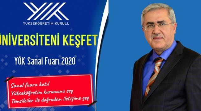 """KSÜ, """"Üniversiteni Keşfet YÖK Sanal Fuarı 2020"""