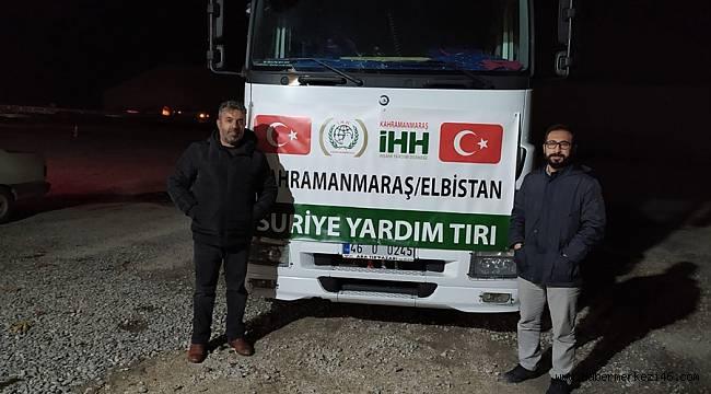 Elbistan İHH'dan Suriye'ye yardım