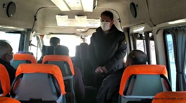Kahramanmaraş'ta toplu taşıma araçları denetlendi