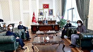 Türkoğlu İlçe Emniyet Müdürü Erdem'den, Başkan Okumuş'a ziyaret
