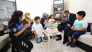 Emniyet Müdürü Cebeloğlu'ndan, şehit ailelerine bayram ziyareti