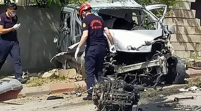 Kahramanmaraş'ta freni patlayan kamyon 3 araca çarptı