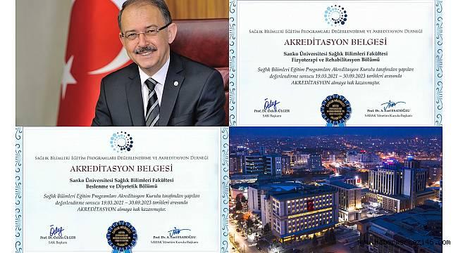 SANKO Üniversitesi'nde iki bölümün daha akredite edilmesinin gururu yaşanıyor