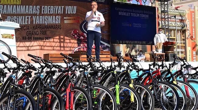 Dağıttığımız bisikletlerle spora teşviki artıracağız