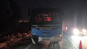 Kahramanmaraş'ta otomobil ile otobüs çarpıştı: 1 yaralı